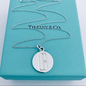 Tiffany & Co. Sterling Silver Initial C Necklace